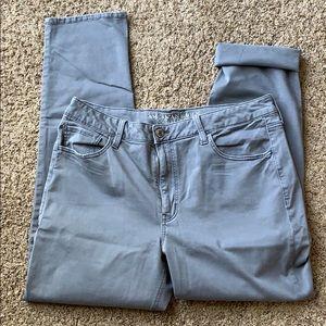 American Eagle Tomgirl pants size 14 Long Gray
